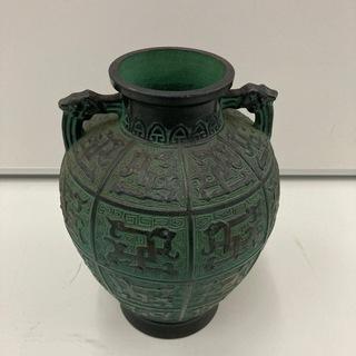 アンティーク壺 青銅色 花瓶