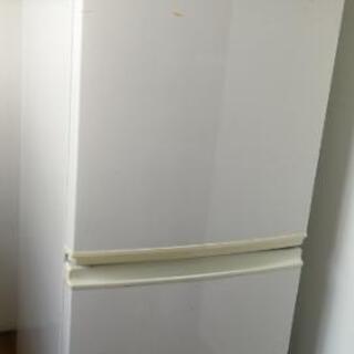 SHARPシャープ 137L 2ドア冷蔵庫 ホワイトSJ-714-W