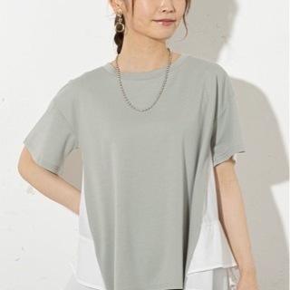 prose verse バックフリル切り替えTシャツ