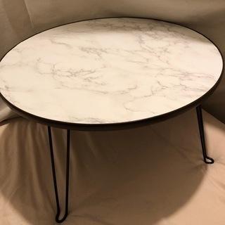 ♦︎大理石風♦︎折り畳み式ローテーブル