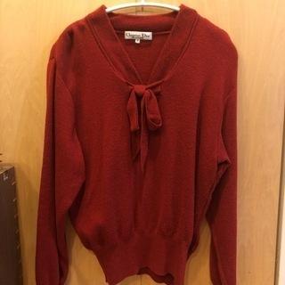 【ネット決済・配送可】Christian Dior の真っ赤なセーター