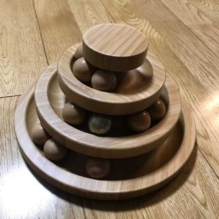 美品 猫のおもちゃ 回転ボール遊ぶ盤