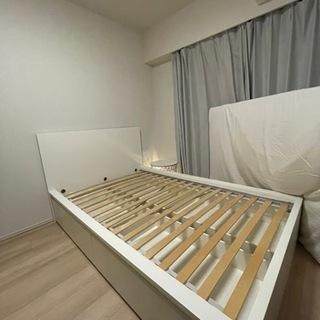 IKEA MALM マルム ベッドフレーム セミダブル