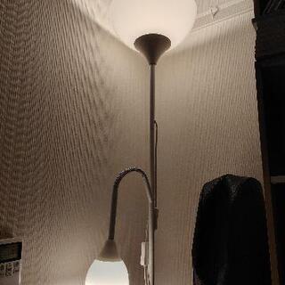 IKEA NOTフロアアップライト/読書ランプ(ホワイト)…
