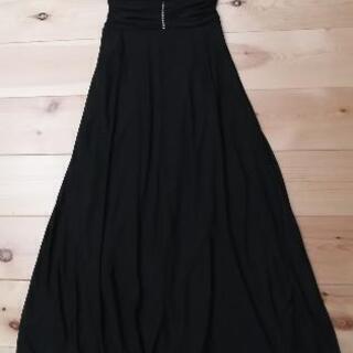【値下げ】黒 ロングドレス S