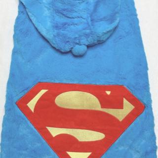 新品未使用 SUPERMAN 大型犬 ドッグウェア 8号 コスプレ