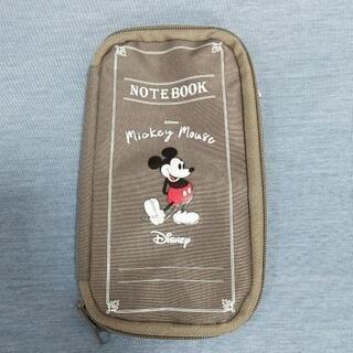 ミッキーマウス、クリアポーチ付き文具ケース