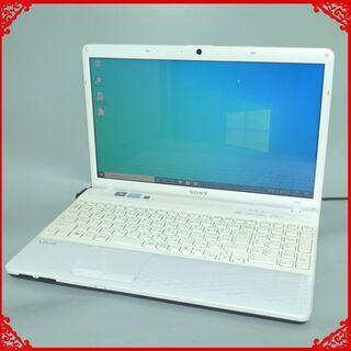 【ネット決済・配送可】中古美品 ホワイト ノートパソコン Win...