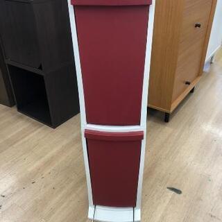 縦型分別ゴミ箱 スリムタイプ レッド/ホワイト