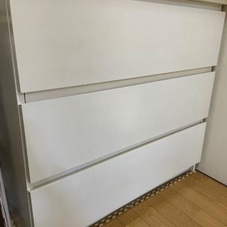 【無料 0円】タンス 白 ニトリ IKEA 3段 箪笥 ホ…