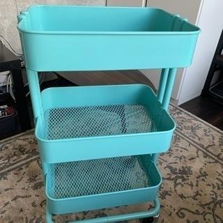 IKEA ワゴン 水色