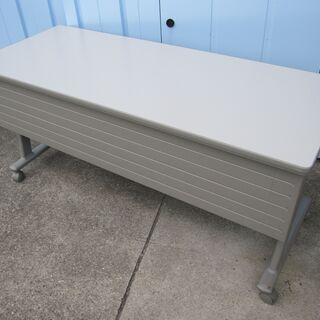 スタックテーブル 幕板あり   1500x600 ニューグレー ...