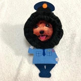 新品 ペティオ 犬用 変身ほっかむりスヌードセット S 警察官 ...
