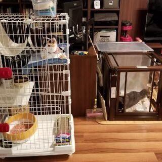 猫用ケージ・2段 ねこトイレ