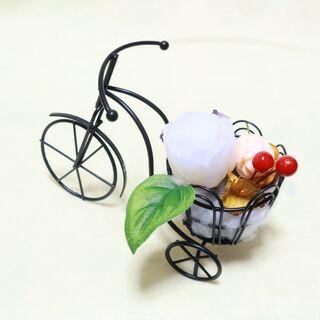 手作りソープカービング 自転車の籠に乗せて ソープフラワー