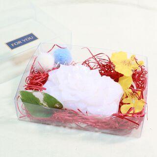 手作りソープカービング 白いバラの花弁 ソープフラワー