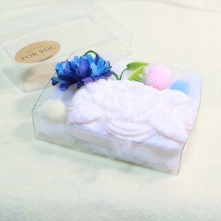 手作りソープカービング 白いバラ模様 ソープフラワー
