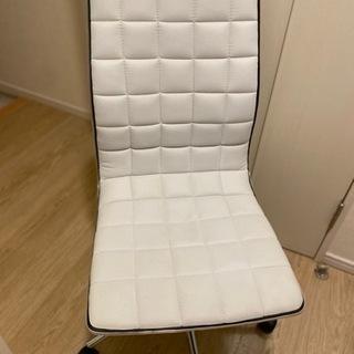 【ネット決済】ホワイト 椅子 デスクチェア