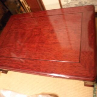 昭和レトロ、木製の座卓、和室用、状態は古いわりに良好