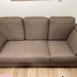 ニトリ 布張り三人掛けソファ