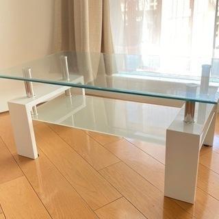 ほぼ新品 強化ガラステーブル