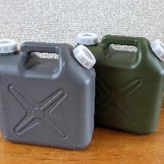 【ネット決済】デザイン 扁平缶 タンク 5リットル 2個セット ...
