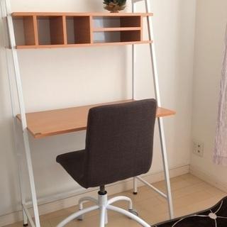 美品!机と椅子のセット おしゃれパソコンデスク