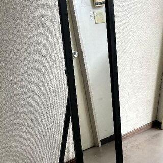 JM13113)カジュアルミラー ブラック 中古品【取りに来られ...