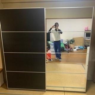 あと1日‼︎! IKEA良品 ワードローブ 片面鏡