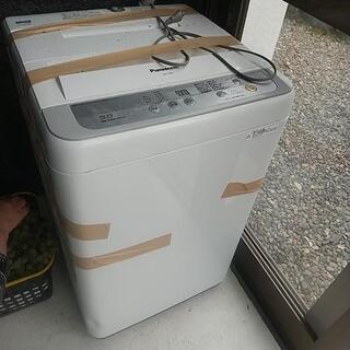 洗濯機。まだ新しい物。