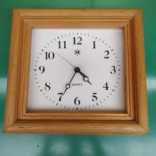 Quartz 掛け時計 木製