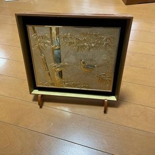 黄金画  竹と雀