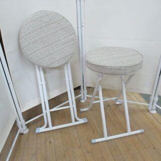 J3218/折りたたみチェア/折り畳み/イス/椅子/丸/ベ…