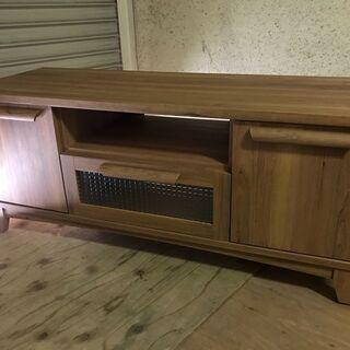 木製 テレビ台 ローボード テレビボード 幅110cm×奥…