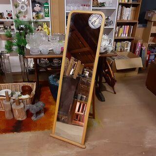レトロ 木製 全身ミラー スタンド /DJ-0754-2F南3