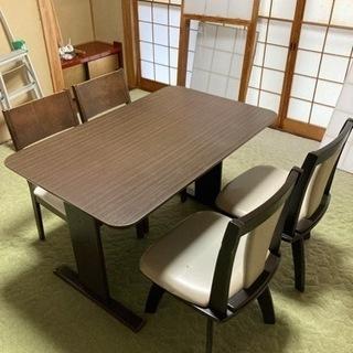 【超美品】ダイニングテーブル、チェアーセット