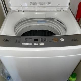 2019製 4.5キロ全自動洗濯機アクア