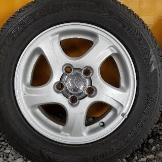 パジェロミニ純正ホイール スタッドレスタイヤ付4本セット