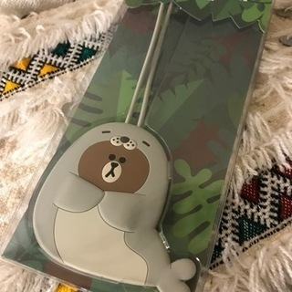 HAPPY BROWN LUGGAGE TAG