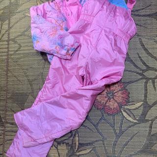 女の子用 ピンクのスキーウェア 140センチ