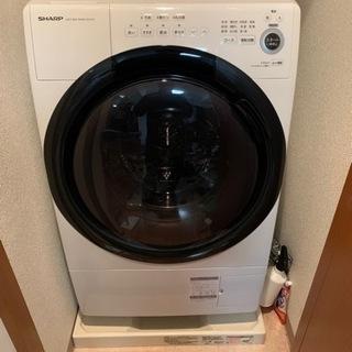 シャープ ドラム式 洗濯乾燥機 ヒーターセンサー乾燥 左開…