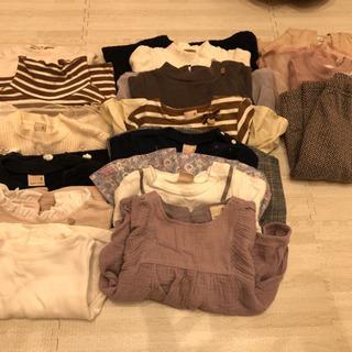 80サイズ女の子 秋冬服 プティマイン 15枚