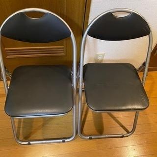 [山善] 折りたたみ パイプ 椅子 ルバー/ブラック YZX-0...