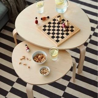 IKEA ネストテーブル2点セット