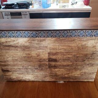DIYキッチンカウンター(食器、収納棚)