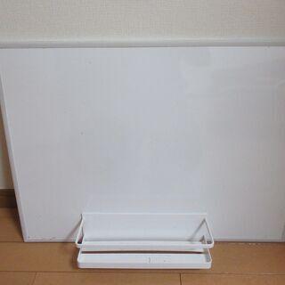 壁掛けコンパクト ホワイトボード 60㎝×45㎝ マグネッ…