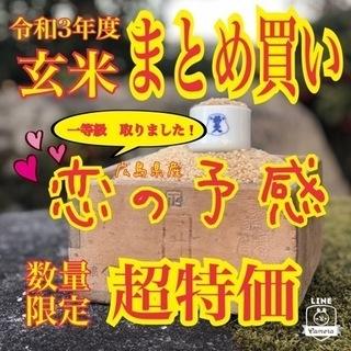 🉐まとめ買い🉐令和3年度産🥇新米🥇広島県産『❤️恋の予感』🌾数量...