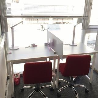 パーテーション、椅子、机