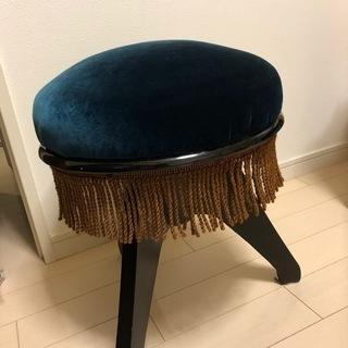 美品 ピアノ椅子 昭和レトロ 回転式 高さ調節可能