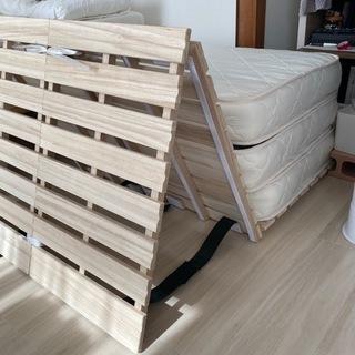 【ネット決済】セミシングル幅80cm 折りたたみすのこベッド g...